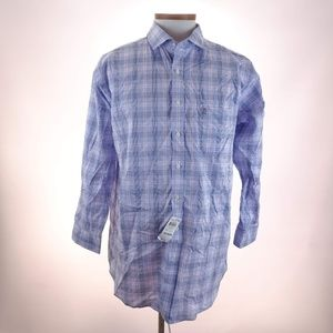 Club Room Men's Pink Blue Regular Fit Dress Shirt
